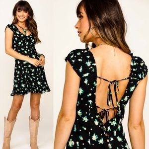 Free People Like A Lady Printed Mini Dress NWT